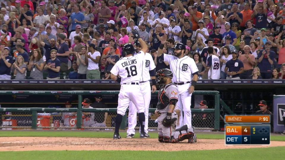 Collins' three-run homer