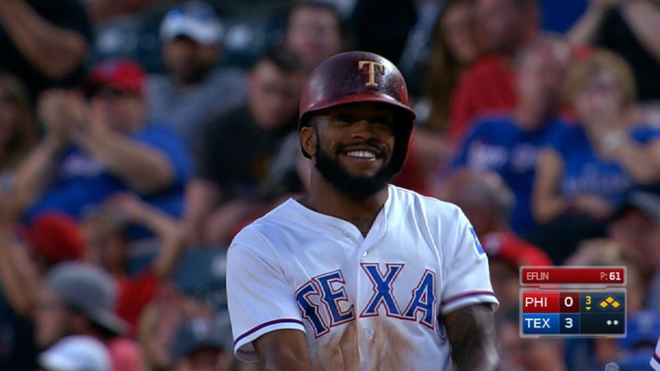 DeShields' four-hit game