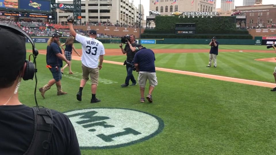 Heavy D's first pitch