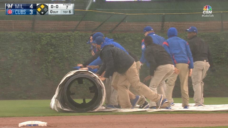 Game enters long rain delay