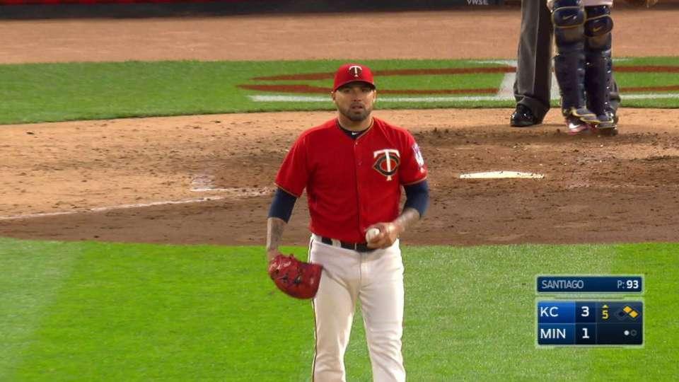 Santiago's big strikeout