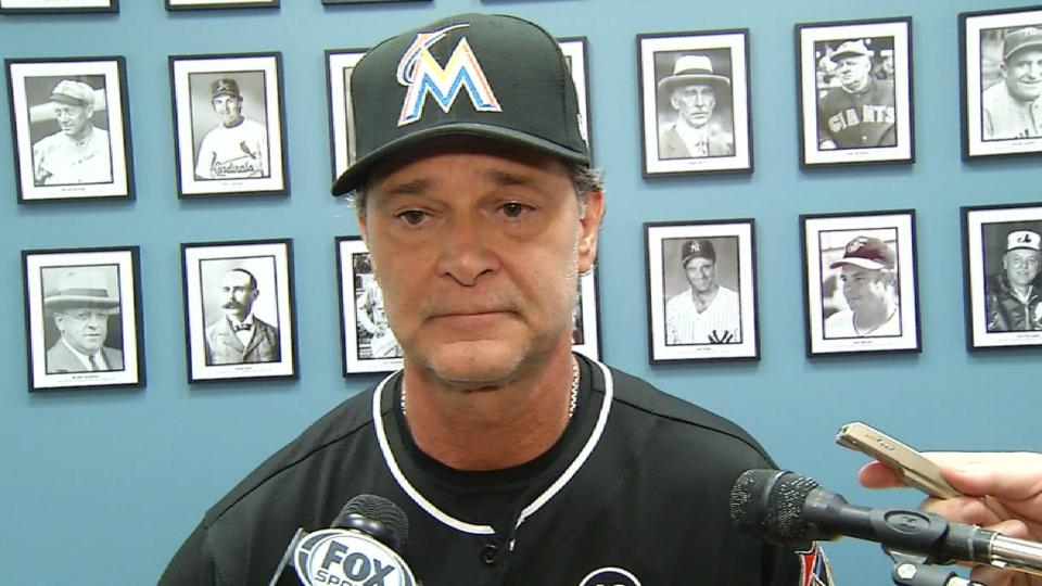 Mattingly on the cleared benches