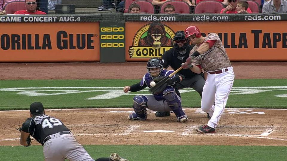 Mesoraco's RBI single