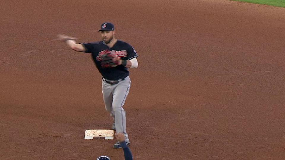 Lindor starts a double play