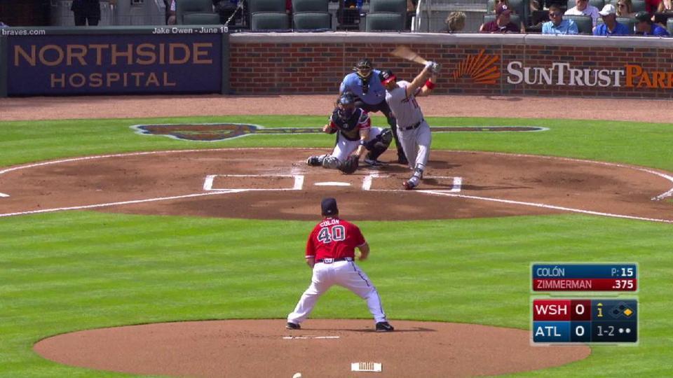 Colon gets Zimmerman swinging