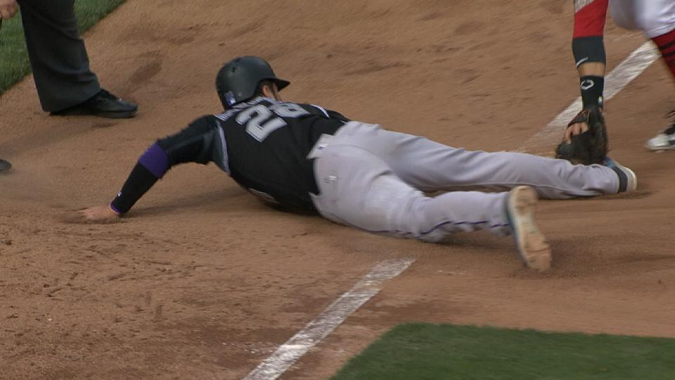 Hamilton throws out Arenado
