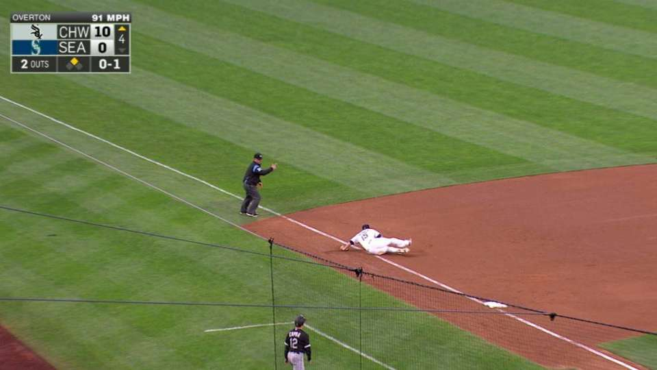 Seager's diving stop
