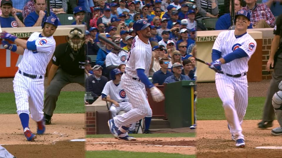 Cubs' four homers vs. Brewers