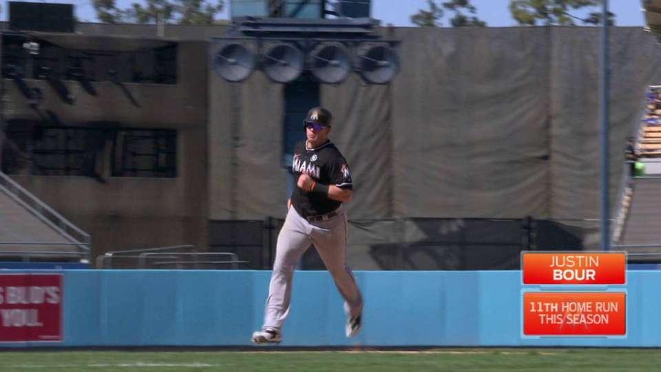 Bour's solo home run