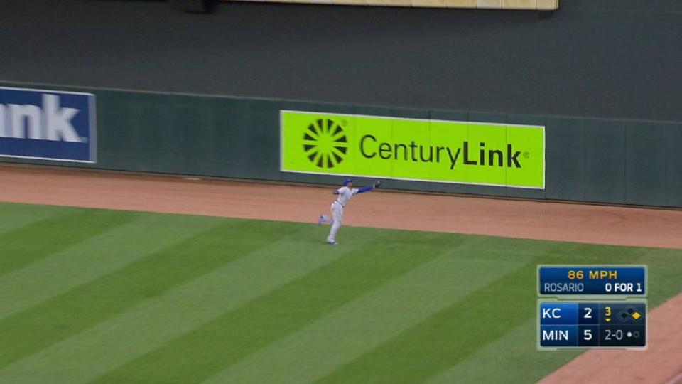 Soler's quick running catch