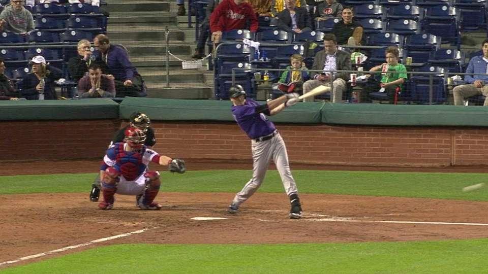 Hoffman's first MLB hit