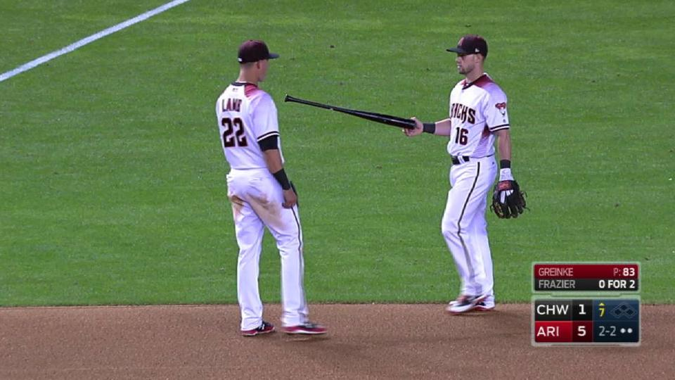 Frazier loses grip on his bat
