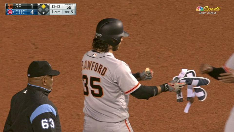Crawford's RBI double