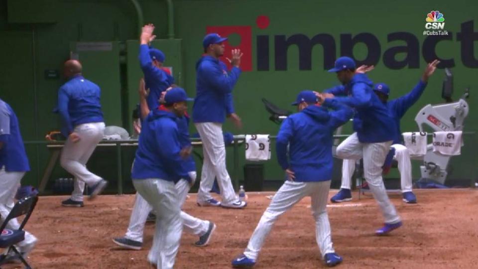 Cubs bullpen has dance party