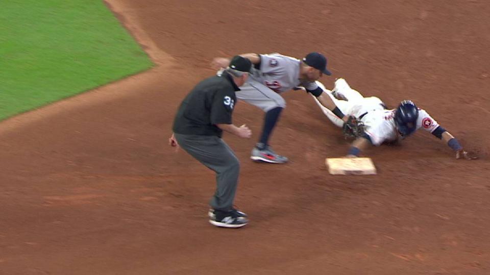 Gonzalez retreats back to second
