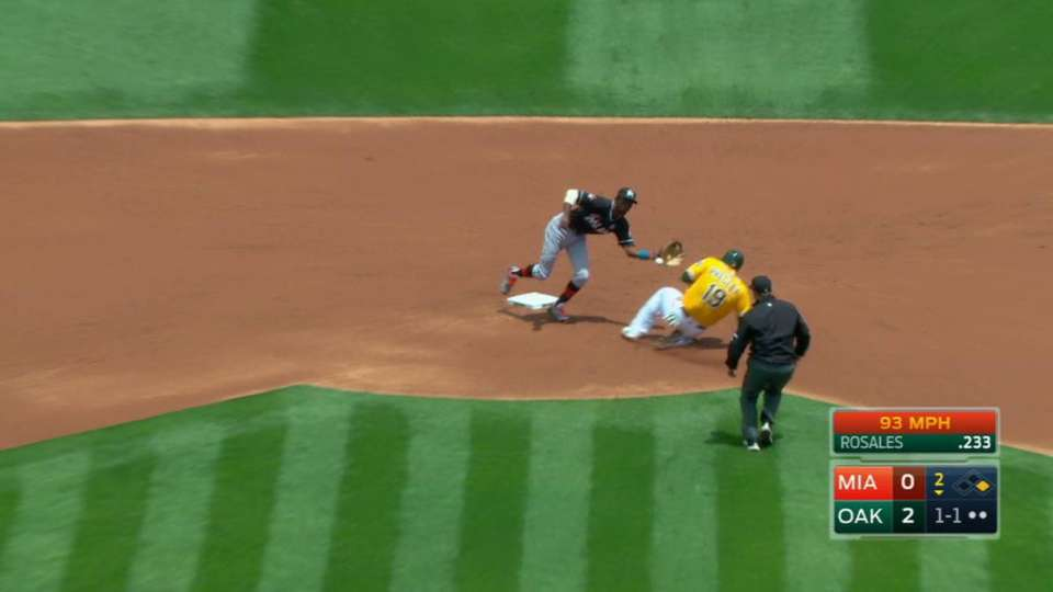 Realmuto's laser throw to second