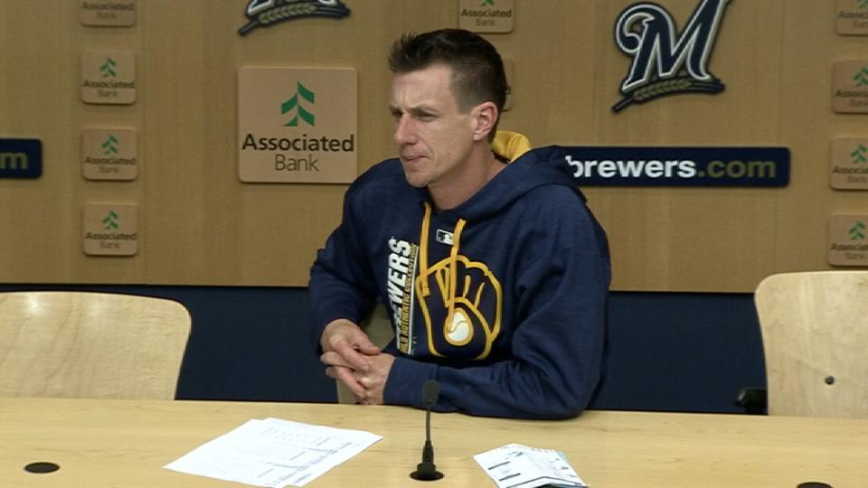 Counsell on Brewers' 8-4 loss