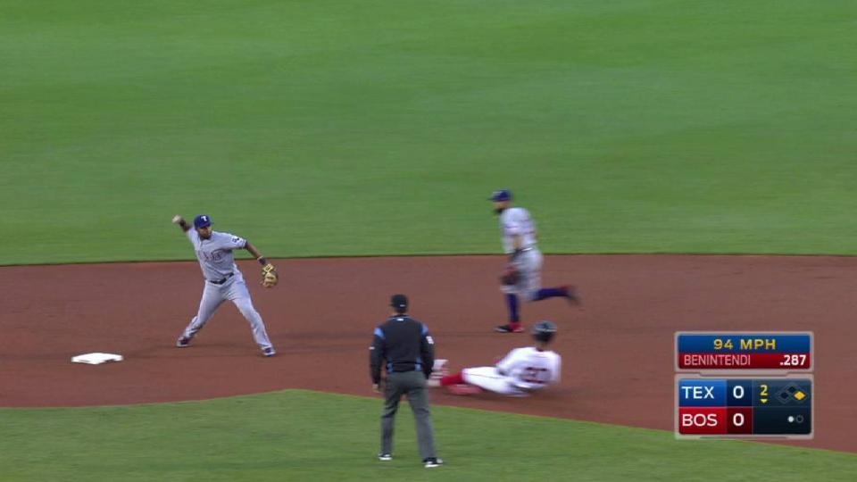 Odor starts a double play