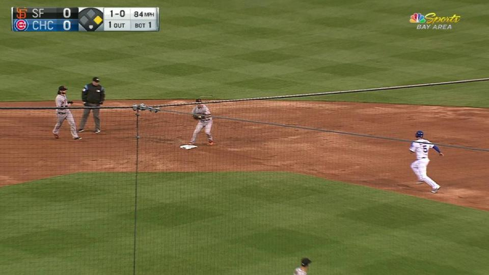Panik's smooth 4-3 double play