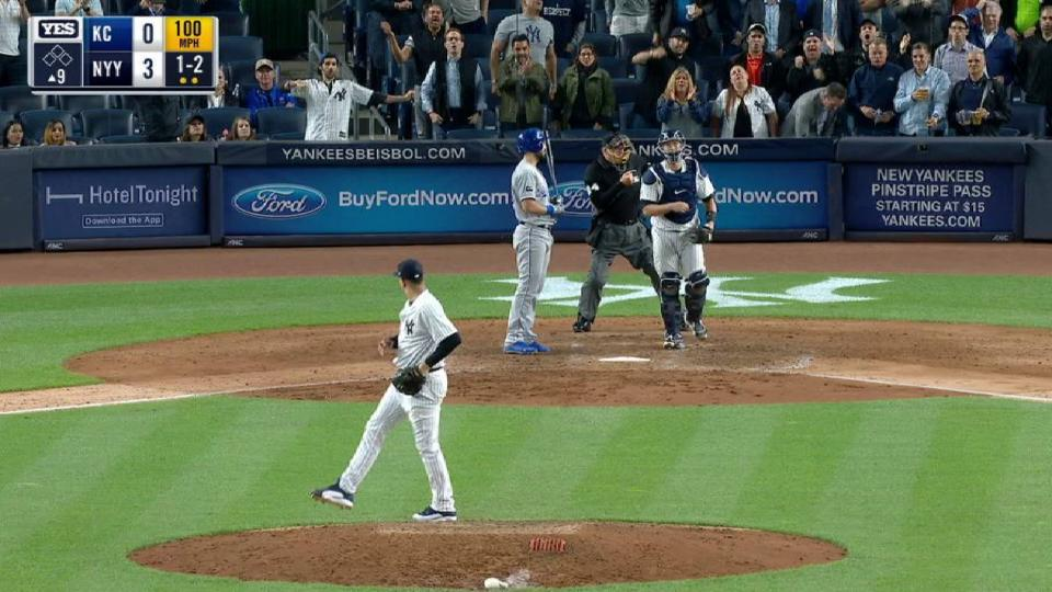 Betances fans side, notches save