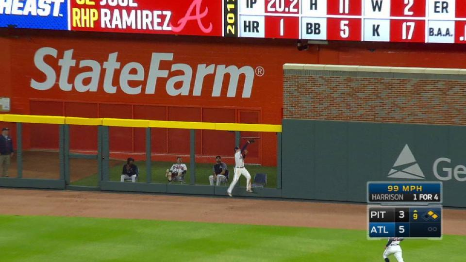 Inciarte's leaping grab