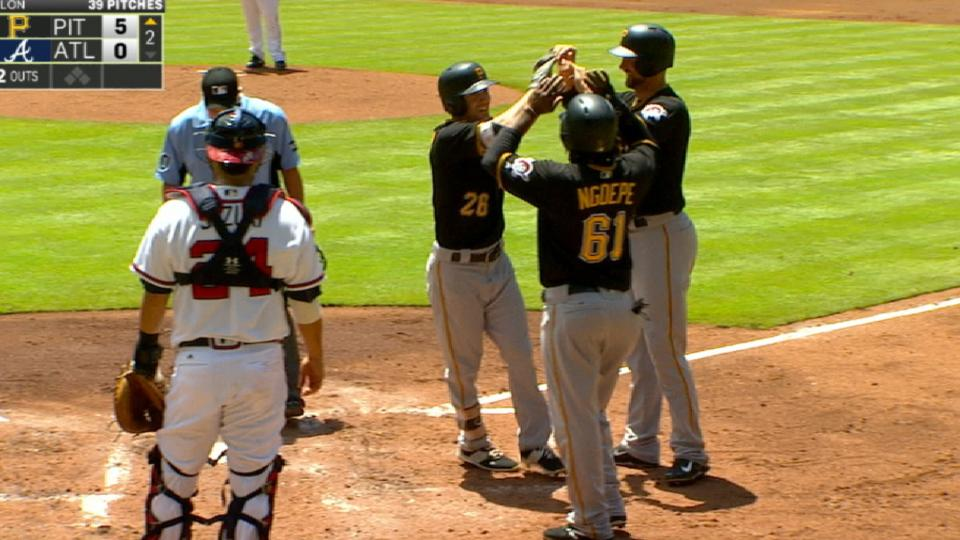 Pirates score five in 2nd inning