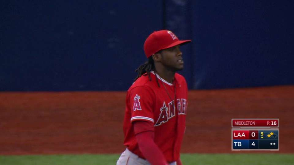 Maybin leaves game in the 6th