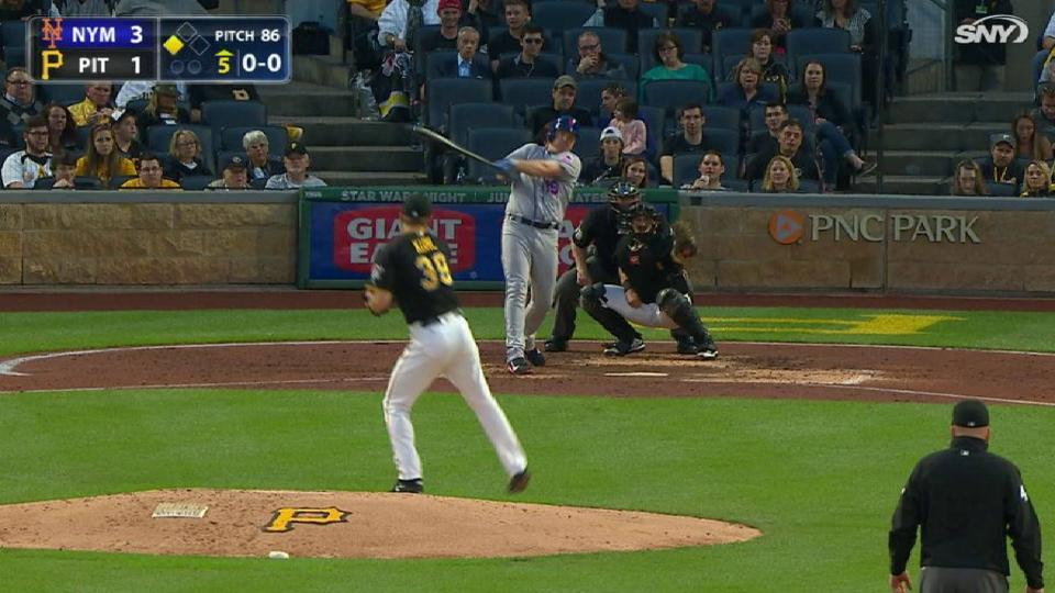 Bruce's sac fly to center