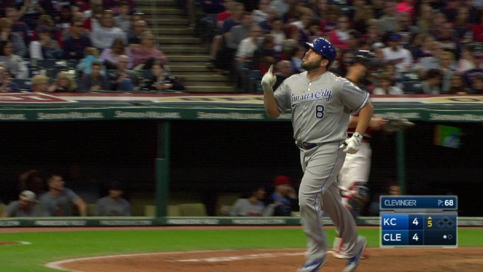 Moustakas' solo homer ties game
