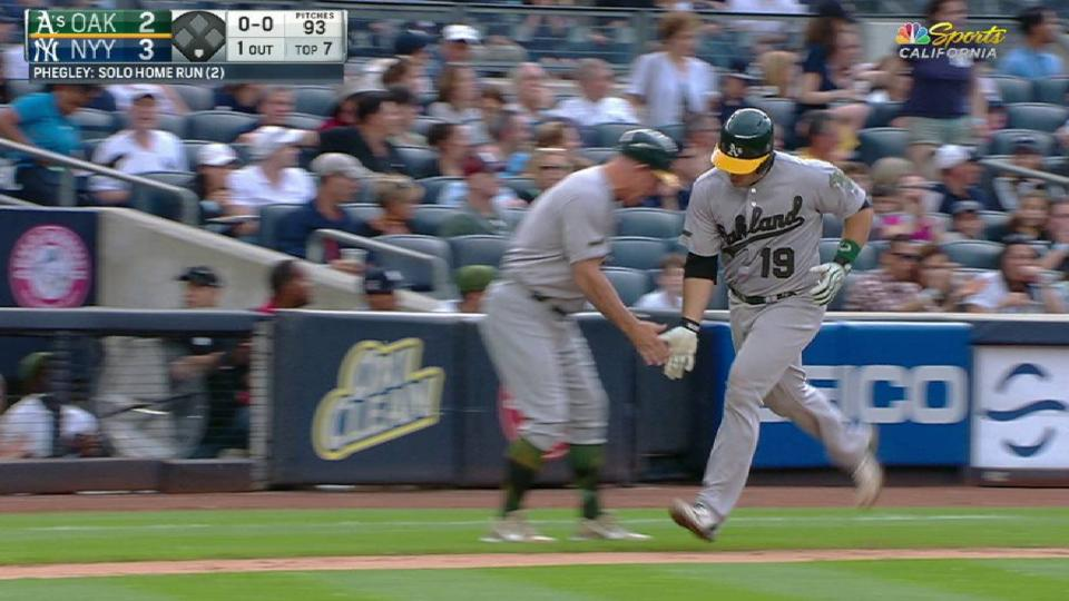Phegley's solo home run to left