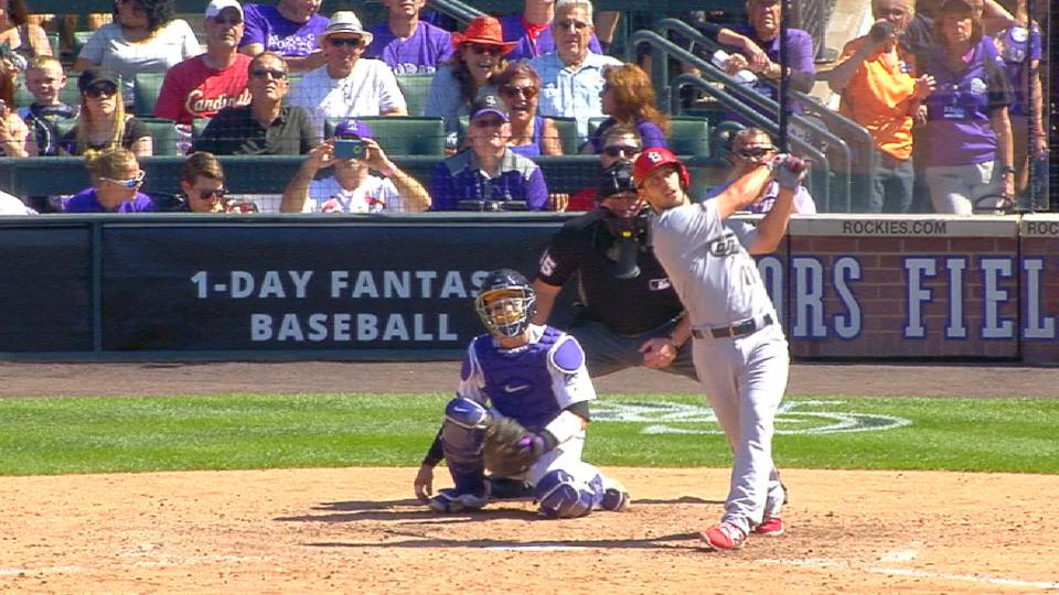 DeJong homers in first at-bat