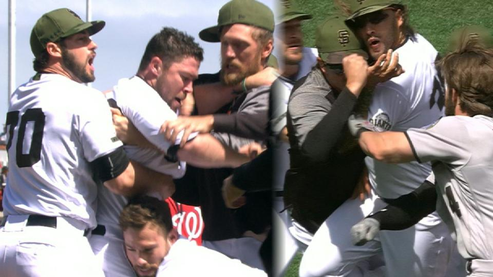 Tempers flare at AT&T Park