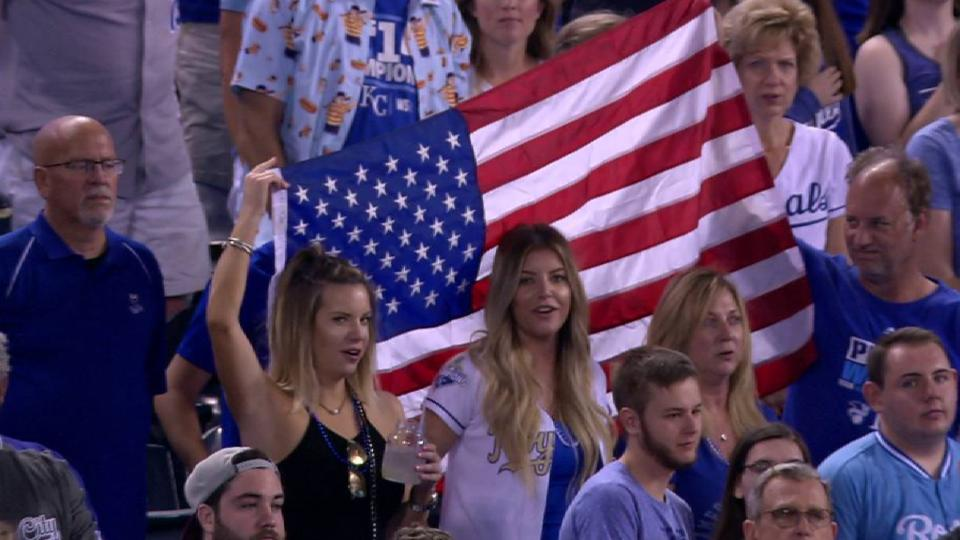 Edgmon sings God Bless America