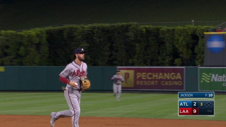 Peterson turns a double play