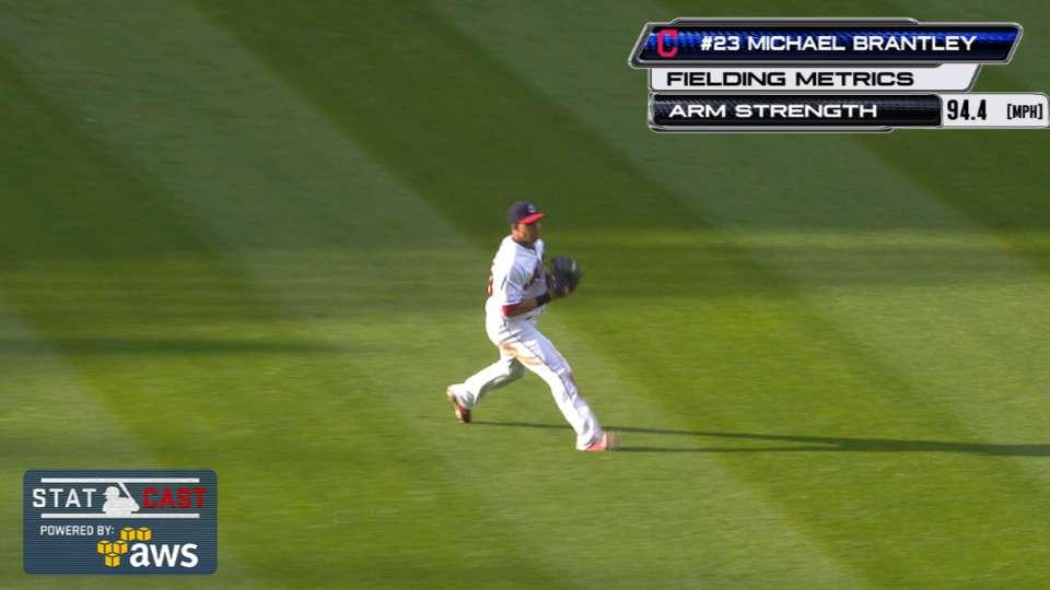 Statcast: Brantley's 94-mph toss