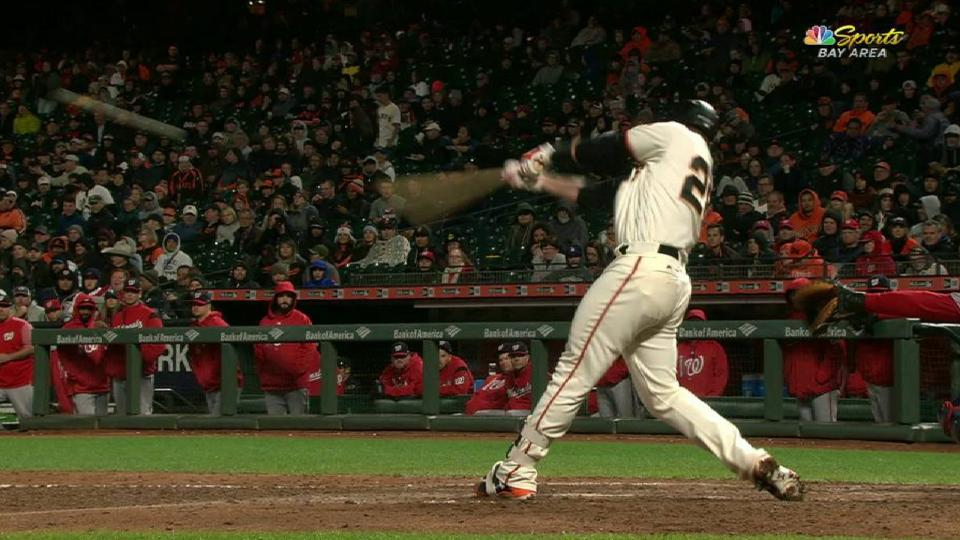 Posey's RBI single in the 7th