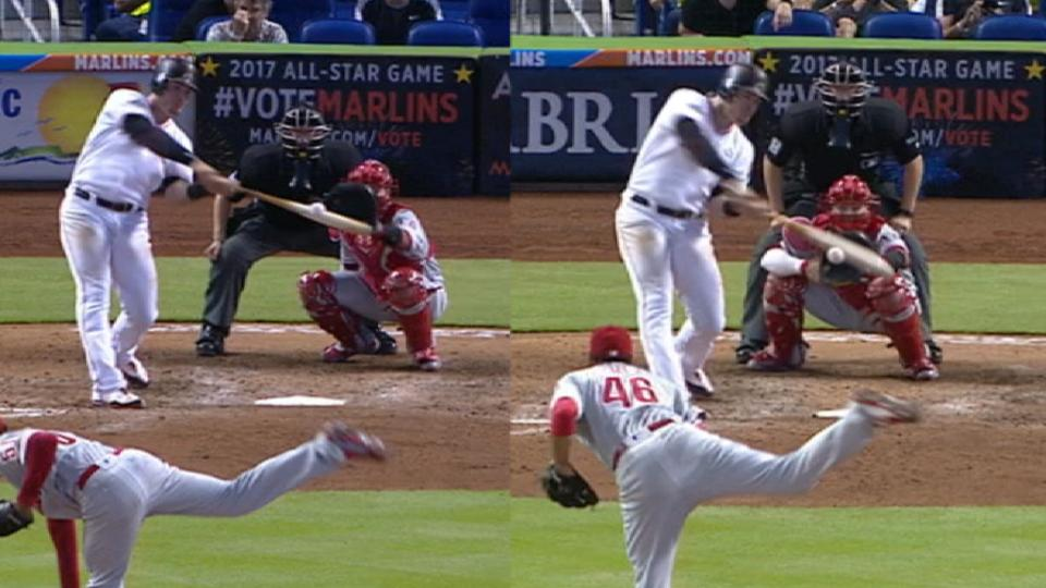 Bour's two-homer day