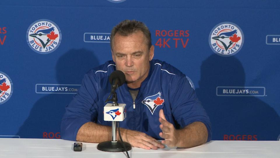 Gibbons talks win, sweep of Reds