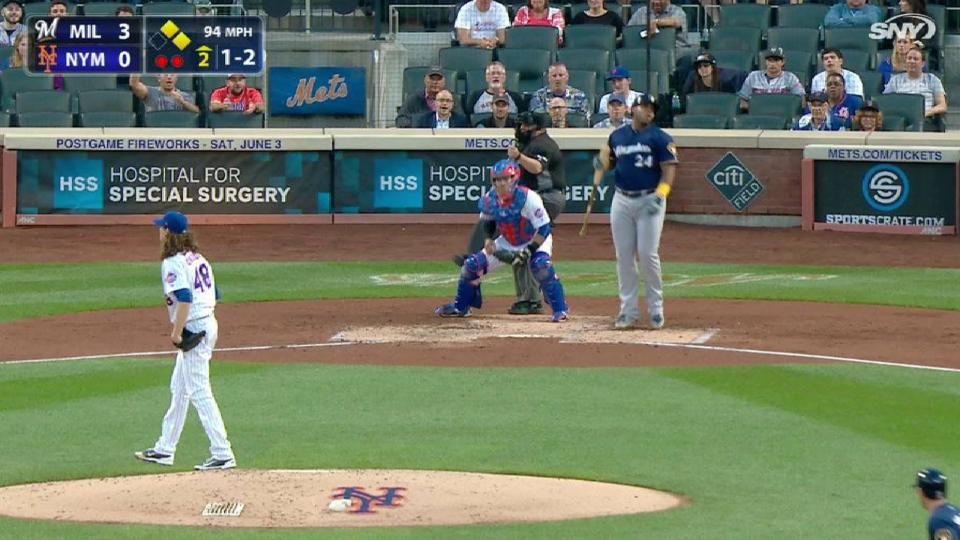 deGrom strikes out Aguilar