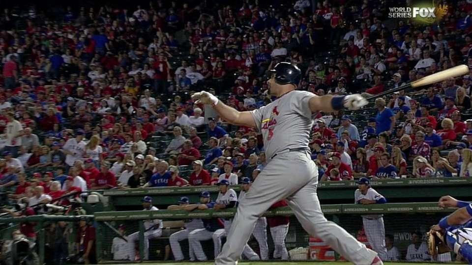Pujols' third homer