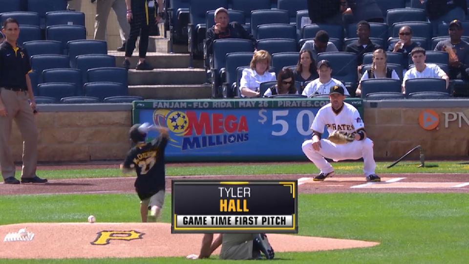 Tyler Hall First Pitch