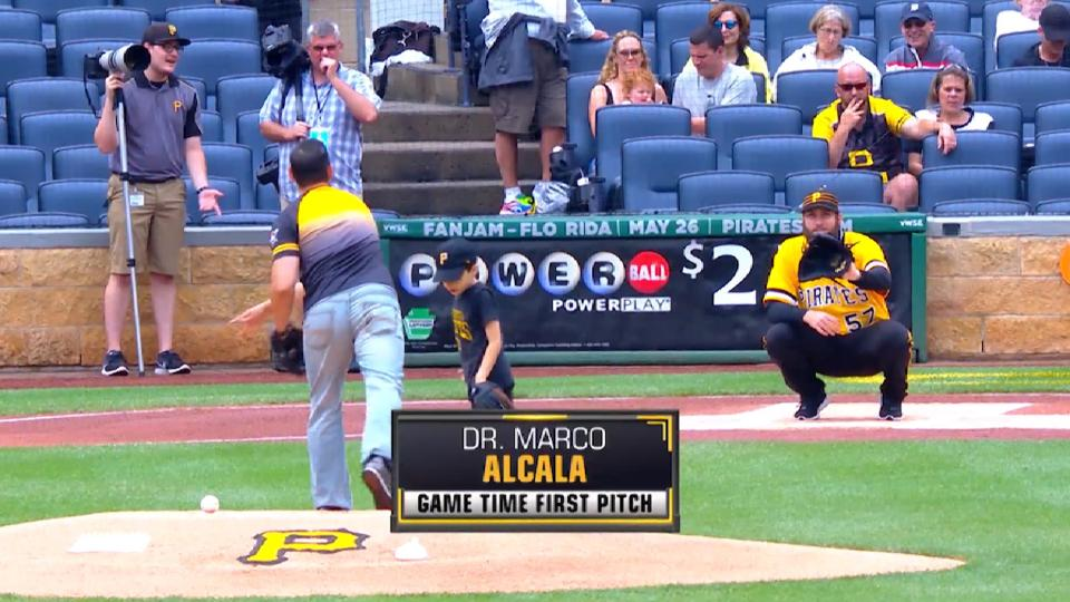 Pirates First Pitch: Dr. Alcala
