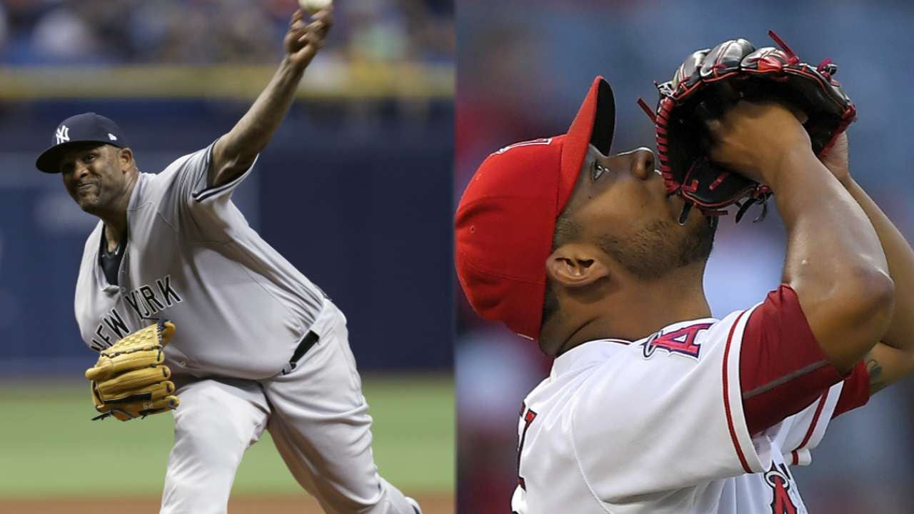 dc7a3777b Sabathia goes for 6th straight win in Anaheim
