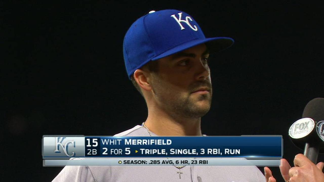 Merrifield on his key triple