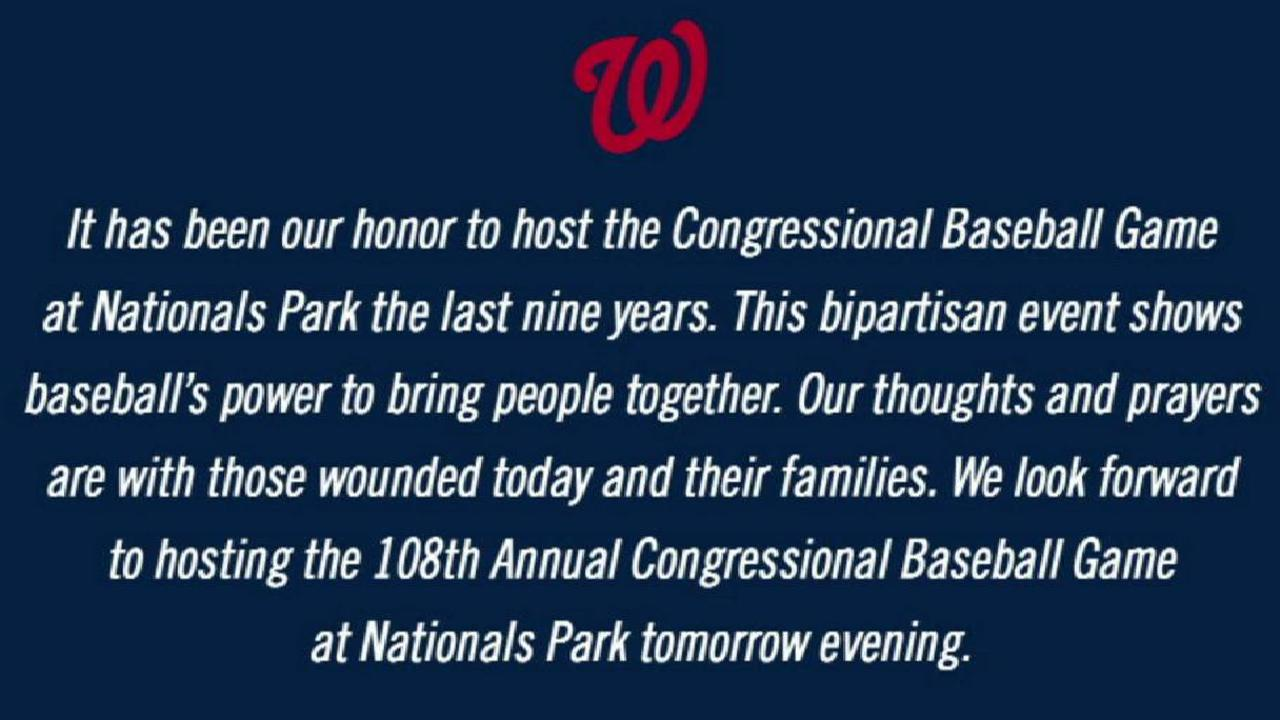 Congressional Game Will Go On For Charities Mlb