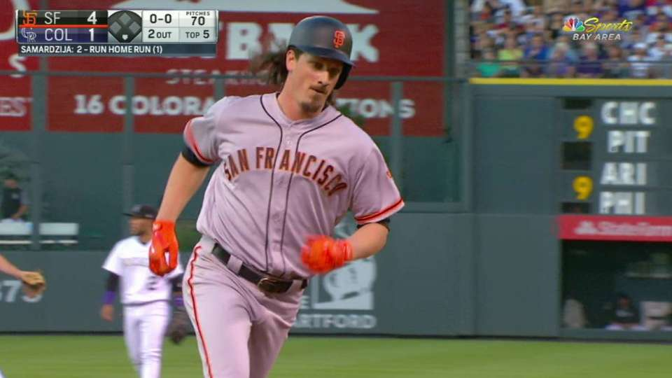 Samardzija's two-run homer