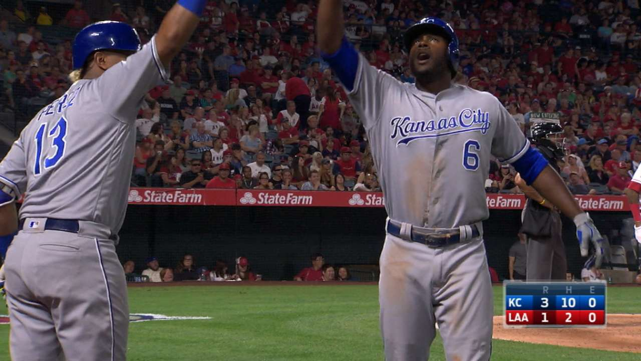 5758babf5 Lorenzo Cain homers twice as Royals top Angels