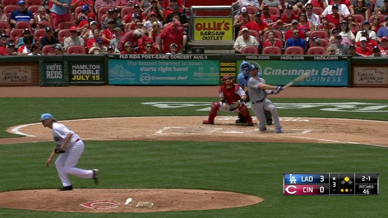 Cañones de Forsythe y Turner impulsan a Dodgers para barrer a Rojos