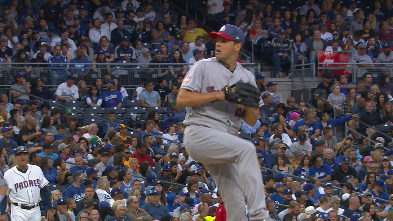 f83d59fd7 Rich Hill dominates Padres in Dodgers  win