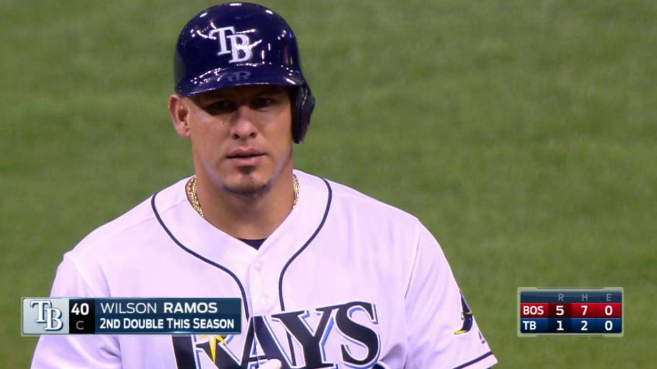 Rays Wilson Ramos Expects To Return Vs As Sgaguilar Javier Electrical Current And Electric Circuits Rbi Double